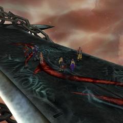 On Braska's Final Aeon's sword.
