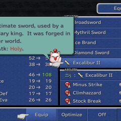In <i>Final Fantasy IX</i> menu.