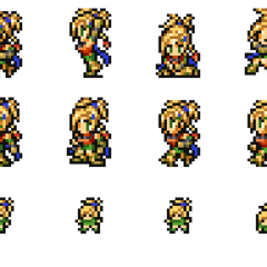 Set of Rikku's <i>Final Fantasy X</i> sprites.