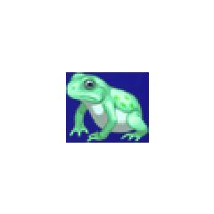 Toad portrait for young Rydia in <i>Final Fantasy IV</i> (PSP).