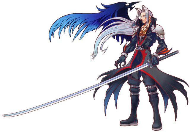 File:Sephiroth - Kingdom Hearts Artwork .png