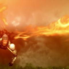 Zhuyu flies with the power of Vermilion Bird.