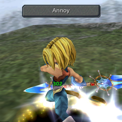 Zidane using a Skill ability with a thief sword.