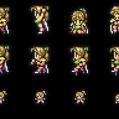 Set of Rosa's sprites.