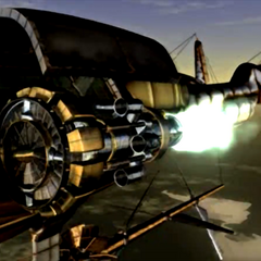 <i>Highwind</i> powering up in an FMV.