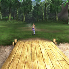 The entrance to the woods in <i>Final Fantasy X-2</i>.