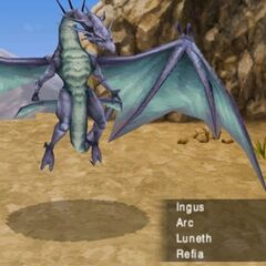 Bahamut as he appeared in the PSP remake of <i>Final Fantasy III</i>.