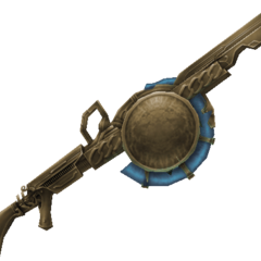 Cid's rifle, used in his cinematic attacks.