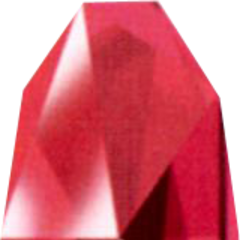 Red Huge Materia as depicted in the <i>Final Fantasy VII Ultimania Omega</i>.