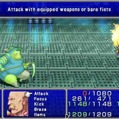 Phoenix Down in-game (PSP).