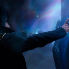 Noctis and the Crystal.