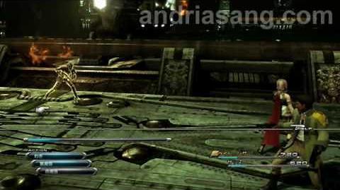 Final Fantasy XIII Demo -- running around and battle