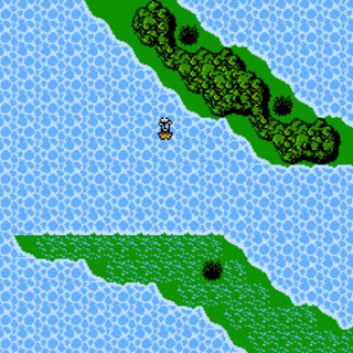 Cardia Islands on the World Map (NES).