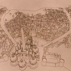 Concept art of the town layout.