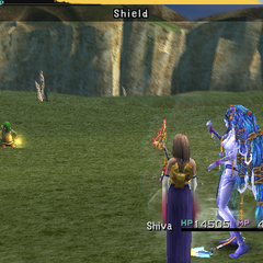 Shiva using Shield.
