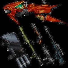 Laguna's weapons.