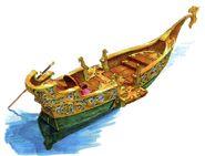 Canal Boat FFIX Art