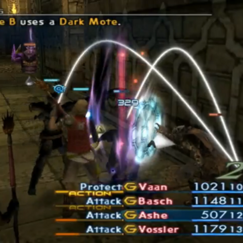 Zombie Mage uses Dark Mote.