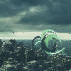 The cityscape of Valhalla.