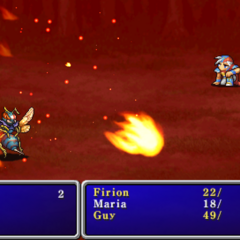 Fire1 cast on the enemy party in <i><a href=