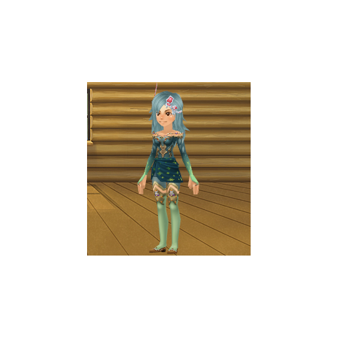 An avatar dressed as <i>The After Years</i> Rydia from the Square-Enix Members Virtual World.