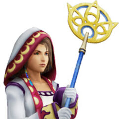 Yuna as a White Mage.