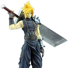 Cloud's <i>Dissidia</i> Trading Arts figure.