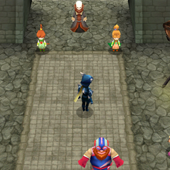 The whole party in the Tower of Prayers (DS/iOS).