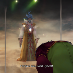 Tromell paying a visit to Lord Jyscal in the Farplane.