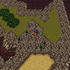 Maranda on the World of Ruin map (SNES).