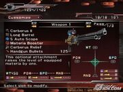 Dirge-of-cerberus-final-fantasy-vii-weapon-customise-menu