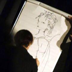 Yoshitaka Amano sketching Lenna.