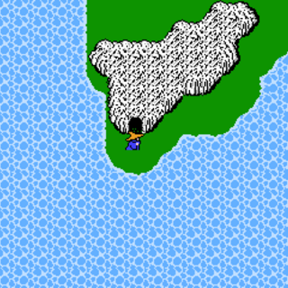 Sage's Cave on the World Map (NES).