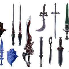 Weapons.