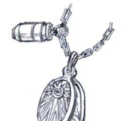 Concept art for Dyne's pendant.