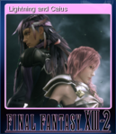FFXIII-2 Steam Card Lightning and Caius.png