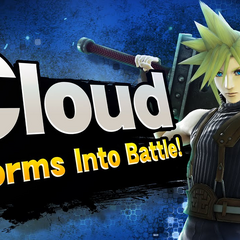 Cloud's Splash Card artwork from the announcement trailer.