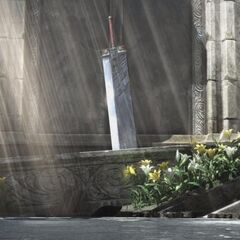 The Buster Sword is moved to the Sector 5 Church in <i>Advent Children Complete</i>.