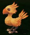 Чокобо во время призыва в версии Final Fantasy III для Nintendo DS.