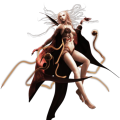 CG-изображение Облака Тьмы в <i>Dissidia Final Fantasy</i>.