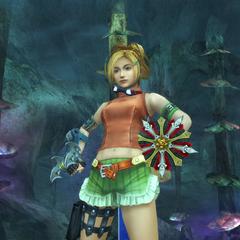 Rikku's victory pose (Underwater).