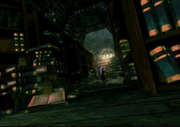 Sephiroth in shinra mansion library