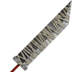 Cloud's bandaged Buster Sword.