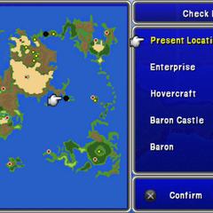 World map via Sight (PSP).