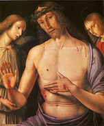 220px-Giovanni Santi - Christ supported by two angels
