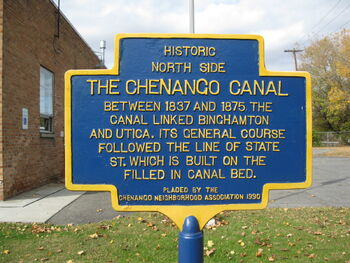Chenango Canal historic location sign