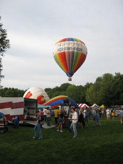 Hot air Balloons at Otsiningo Park-2009 Spiede Fest