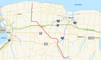 NY Route 63 map
