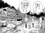 Shinra, Arthur and Iris walking to Vulcan's workshop