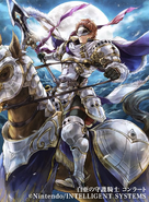 Conrad as a Paladin in Fire Emblem 0 (Cipher)